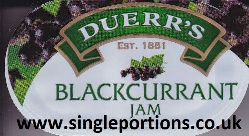 DUERR'S - Blackcurrant - jam - single portions